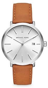 Michael Kors Women's Blake Stainless Steel Leather-Strap Watch