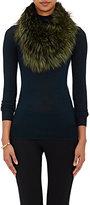 Barneys New York Women's Fox Fur Cowl Scarf-GREEN