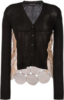 Rochas silk panel cardigan - women - Silk/Cotton/Polyamide - 38