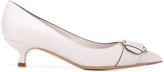Salvatore Ferragamo Gancini pointed toe pumps