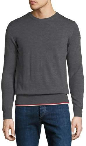Moncler Knitted Wool Crewneck Sweater