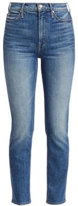 Mother The Dazzler High-Rise Crop Straight-Leg Jeans