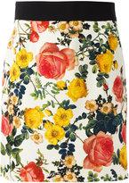 Fausto Puglisi floral print mini skirt - women - Silk/Spandex/Elastane/Acetate/Viscose - 42