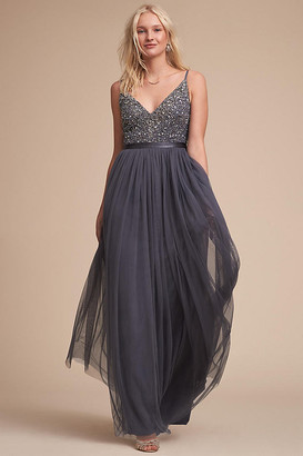 Anthropologie Avery Dress By in Grey Size 10