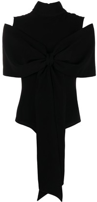 Atu Body Couture High-Neck Bow Front Bodysuit