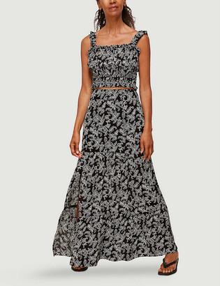 Whistles Jasmine-print silk maxi skirt
