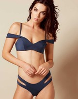 Agent Provocateur Pia Bikini Top Navy