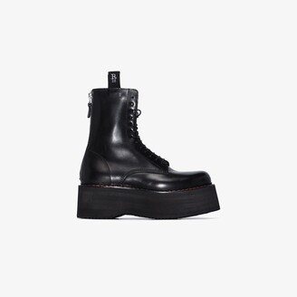 R 13 black X-Stack leather boots