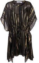 IRO metallic stripe kaftan dress