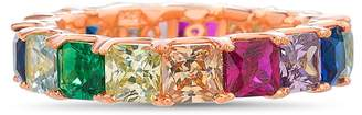 Lesa Michele Rainbow Cubic Zirconia Band Ring