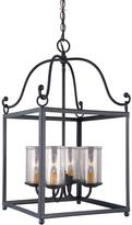 Feiss Declaration 4-Light Antique Forged Iron Pendant