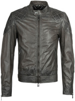 Belstaff Outlaw Combat Green Leather Jacket