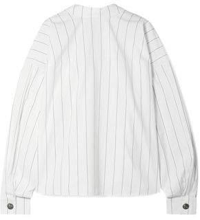 Awake Reversible Oversized Pinstriped Cotton-poplin Shirt