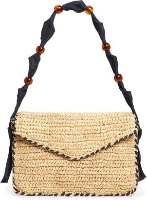 PAMELA MUNSON Las Olas Beaded Ribbon Strap Shoulder Bag