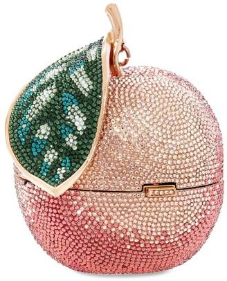 Judith Leiber Peach Apple Clutch Bag