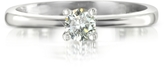 Forzieri 0.23 ctw Diamond 18K White Gold Solitaire Vanity Ring