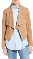 Cole Haan Women's Cascade Collar Suede Jacket