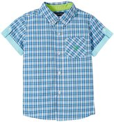 Andy & Evan Checkmate Shirt (Toddler/Kid) - Aqua 4T
