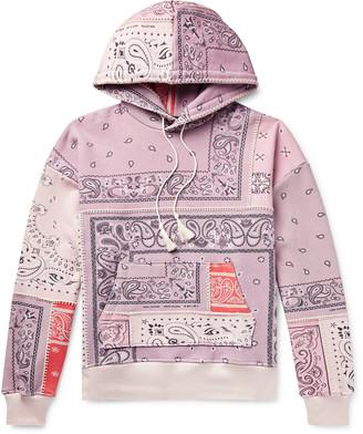 Amiri Oversized Bandana-Print Loopback Cotton-Jersey Hoodie