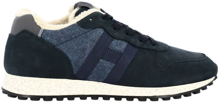 Hogan Sneakers Sneakers 383 Running In Leather And Wool