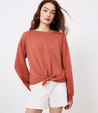 LOFT Tie Front Sweatshirt