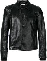 Saint Laurent collared leather jacket - men - Cotton/Lamb Skin/Cupro - 52