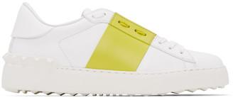Valentino White and Green Garavani Open Sneakers