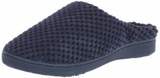 Isotoner Womens Textured Microterry Hoodback Clog Slipper