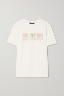 ALEXACHUNG International Women's Day Printed Cotton-jersey T-shirt - Off-white