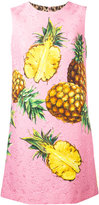 Dolce & Gabbana pineapple printed brocade dress - women - Cotton/Triacetate/Silk/Spandex/Elastane - 46