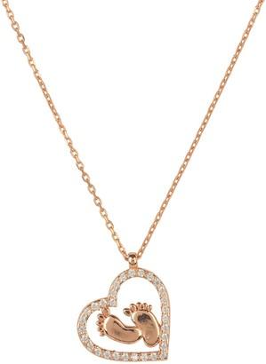 Rosegold Heart Mum Pendant Necklace