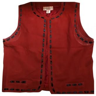 Saint Laurent Burgundy Suede Jackets