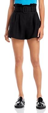 Aqua Belted Paper Bag Waist Shorts - 100% Exclusive
