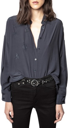 Zadig & Voltaire Tamara Strass Woven Shirt