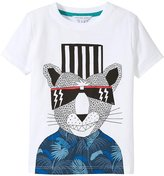 Little Marc Jacobs Cool Panter Print Tee-Shirt (Toddler/Kid) - White-3A