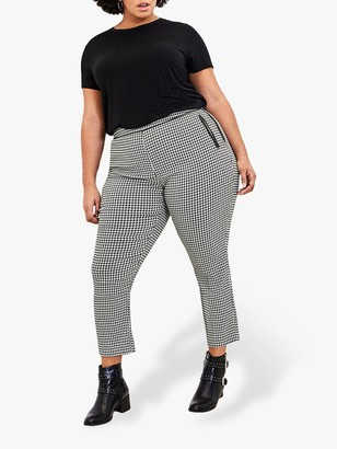 Oasis Curve Dogtooth Trousers, Multi