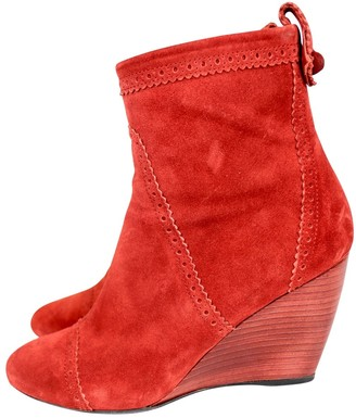 Balenciaga \N Red Suede Ankle boots