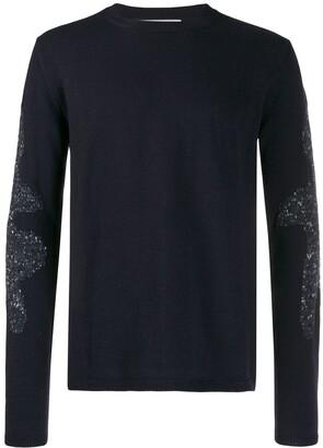 Comme des Garçons Shirt Contrast Knit Jumper