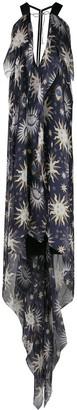 Maison Rabih Kayrouz Sun-Print Chiffon Dress