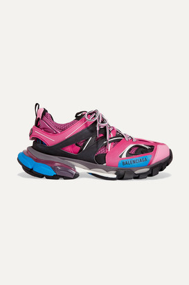 Balenciaga Track Logo-detailed Mesh And Rubber Sneakers - Pink