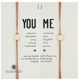 Dogeared Friendship Sparkle Ring Bracelet Set