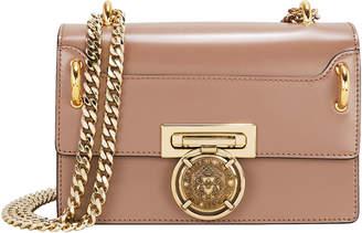 Balmain Box Leather Shoulder Bag