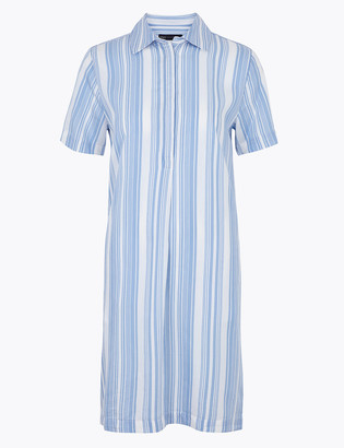 Marks and Spencer Striped V-Neck Shift Dress
