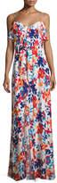 Parker Bellaire Floral-Print Silk Maxi Dress, Multi