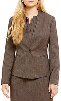 Preston & York Doria Stretch Twill Button Front Suiting Jacket