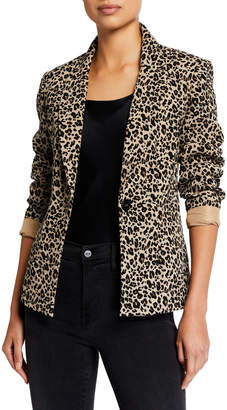 Nanette Lepore Nanette Leopard-Print Blazer