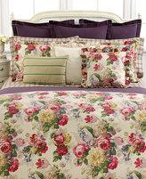 Lauren Ralph Lauren CLOSEOUT! Surrey Garden Tattersall King Flat Sheet