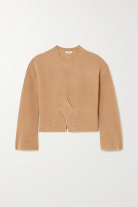 Jason Wu Twisted Ribbed Cashmere Sweater - Camel