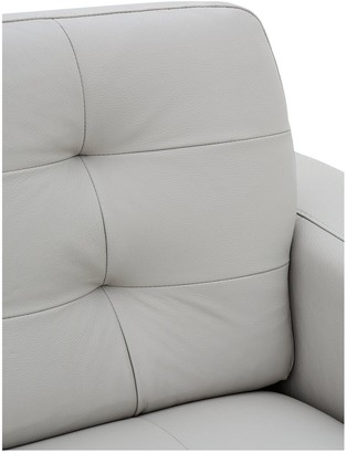 Ideal Home Brook Premium Leather 3 Seater Left Hand Corner Chaise Sofa