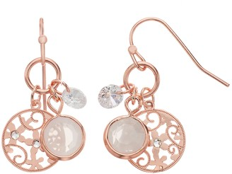 Lauren Conrad Filigree Floral Earrings